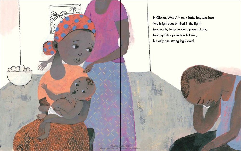 noresize Illustration © 2015 by Sean Qualls from EMMANUEL'S DREAM: THE TRUE STORY OF EMMANUEL OFOSU YEBOAH by Laurie Ann Thompson; published by Schwartz & Wade Books, an imprint of Random House Children's Books, a division of Random House LLC, a Penguin Random House Company
